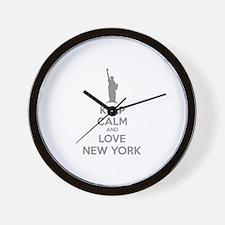 Keep calm and love New York Wall Clock