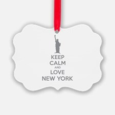 Keep calm and love New York Ornament