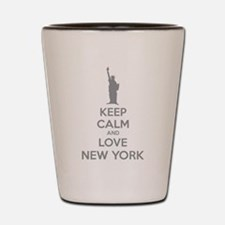 Keep calm and love New York Shot Glass