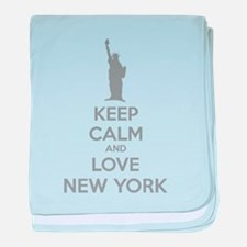 Keep calm and love New York baby blanket