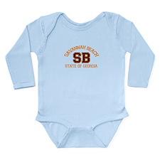Savannah Beach GA - Varsity Design. Onesie Romper Suit