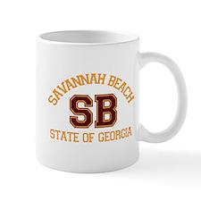 Savannah Beach GA - Varsity Design. Mug