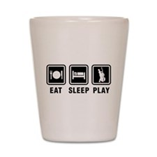 Eat Sleep Play Shot Glass