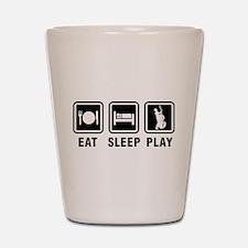 Eat Sleep Play Shot Glass