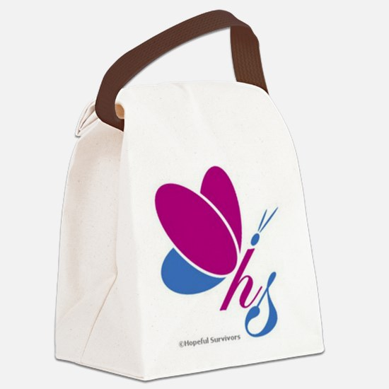 Hopeful Survivors Butterfly Canvas Lunch Bag