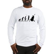 Double Bassist Evolution Long Sleeve T-Shirt