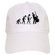 Double Bassist Evolution Baseball Cap