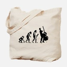 Double Bassist Evolution Tote Bag