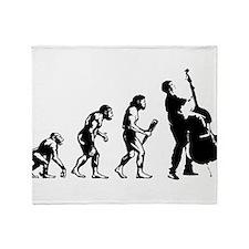 Double Bassist Evolution Throw Blanket