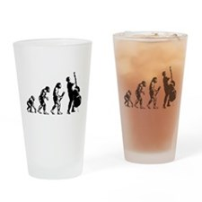 Double Bassist Evolution Drinking Glass