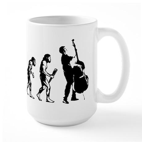 Double Bassist Evolution Large Mug