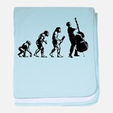 Double Bassist Evolution baby blanket