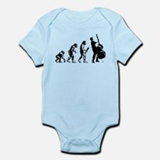 Double Bassist Evolution Infant Bodysuit