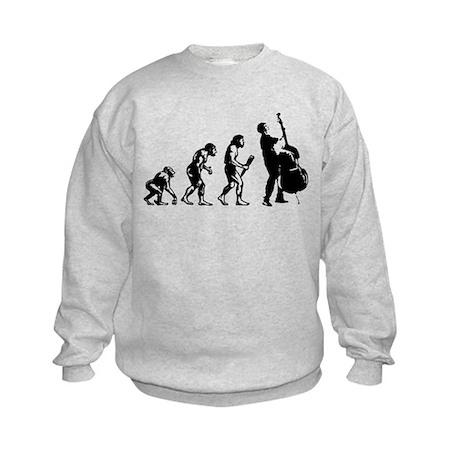 Double Bassist Evolution Kids Sweatshirt