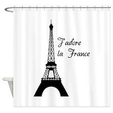 J'adore la France Shower Curtain
