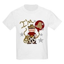 Cowboy 4th Birthday Kids T-Shirt