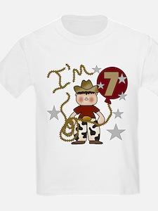 Cowboy 7th Birthday Kids T-Shirt