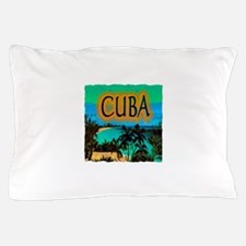 cuba beach art illustration Pillow Case