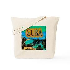 cuba beach art illustration Tote Bag