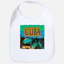 cuba beach art illustration Bib
