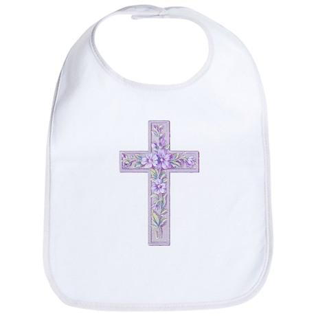 Purple Easter Cross Bib