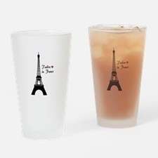 J'adore la France Drinking Glass