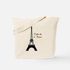 J'adore la France Tote Bag