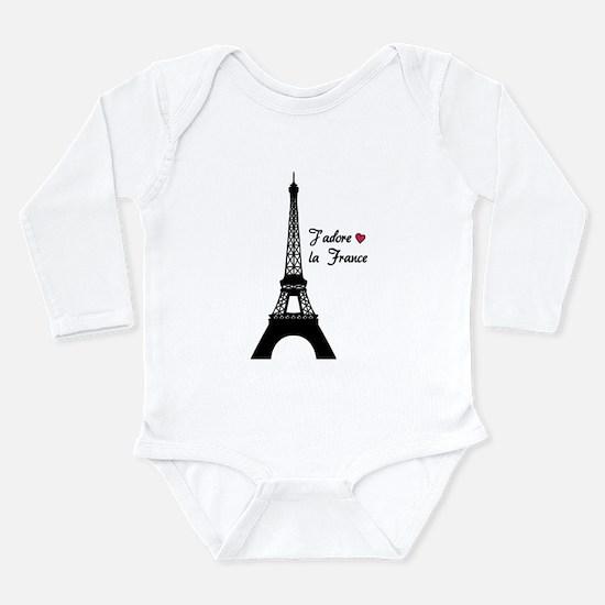 J'adore la France Long Sleeve Infant Bodysuit