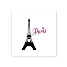 "Paris Square Sticker 3"" x 3"""