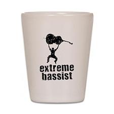Extreme Bassist Shot Glass