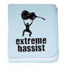 Extreme Bassist baby blanket