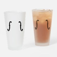 F Holes Drinking Glass