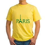 Paris Mens Classic Yellow T-Shirts