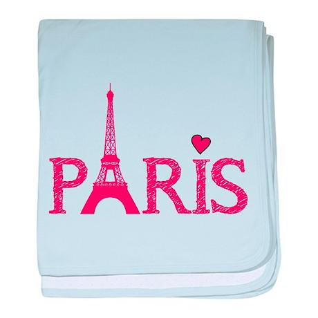 Paris baby blanket