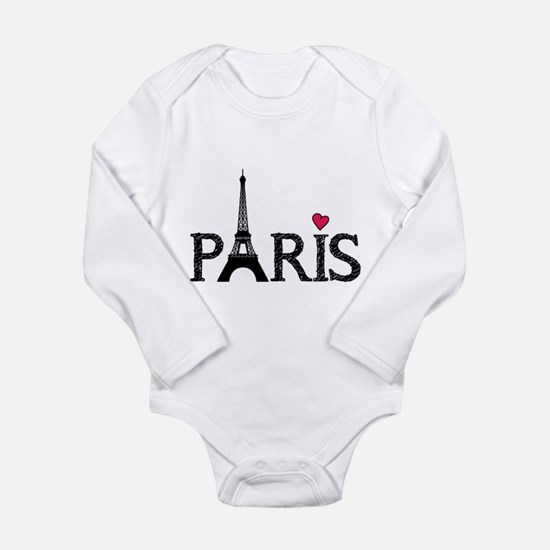 Paris Long Sleeve Infant Bodysuit