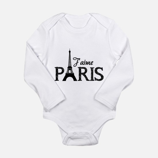 J'aime Paris Long Sleeve Infant Bodysuit