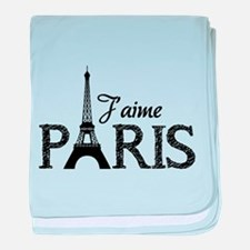 J'aime Paris baby blanket