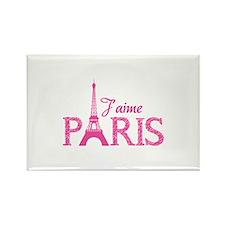 J'aime Paris Rectangle Magnet (10 pack)