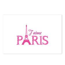 J'aime Paris Postcards (Package of 8)