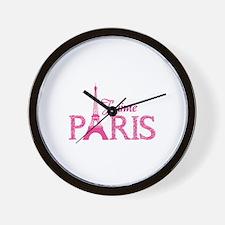 J'aime Paris Wall Clock