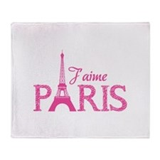 J'aime Paris Throw Blanket