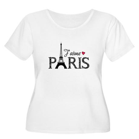 J'aime Paris Women's Plus Size Scoop Neck T-Shirt