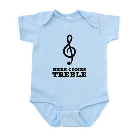 Here Comes Treble Infant Bodysuit