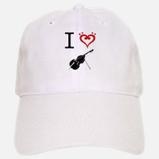 I Heart Double Bass Baseball Baseball Cap