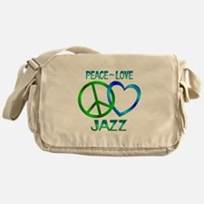 Peace Love Jazz Messenger Bag