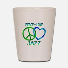 Peace Love Jazz Shot Glass