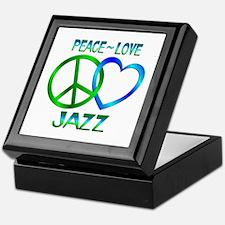 Peace Love Jazz Keepsake Box
