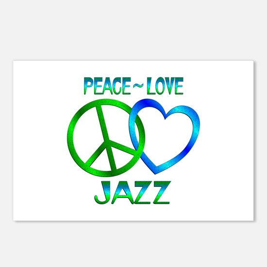 Peace Love Jazz Postcards (Package of 8)