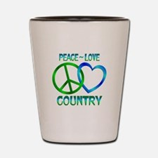 Peace Love Country Shot Glass