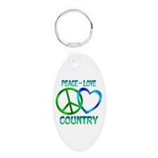 Peace Love Country Keychains